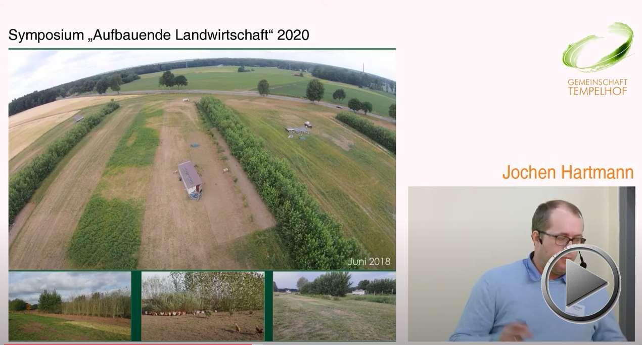 """Präsentation: Agroforstwirtschaft und mobile Hühnerhaltung. Jochen Hartmann. Symposium """"Aufbauende Landwirtschaft"""" 2020"""