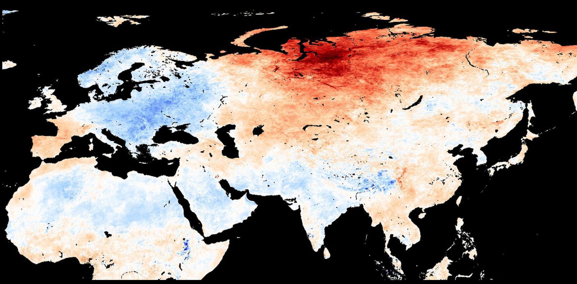Sibirien leidet unter Rekordhitze – bis zu 34°C