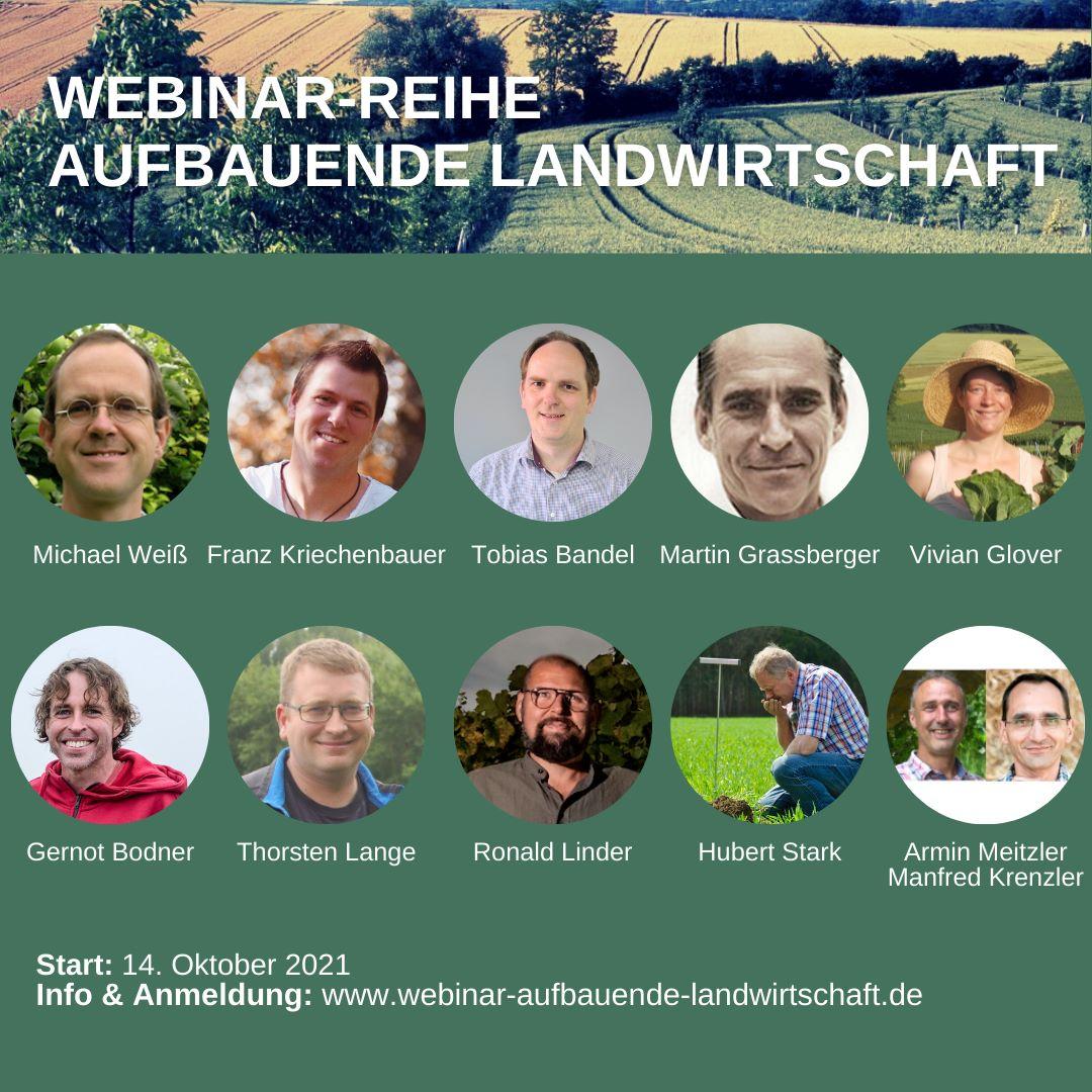 Heute beginnt unsere 7. Webinar-Reihe »Aufbauende Landwirtschaft«