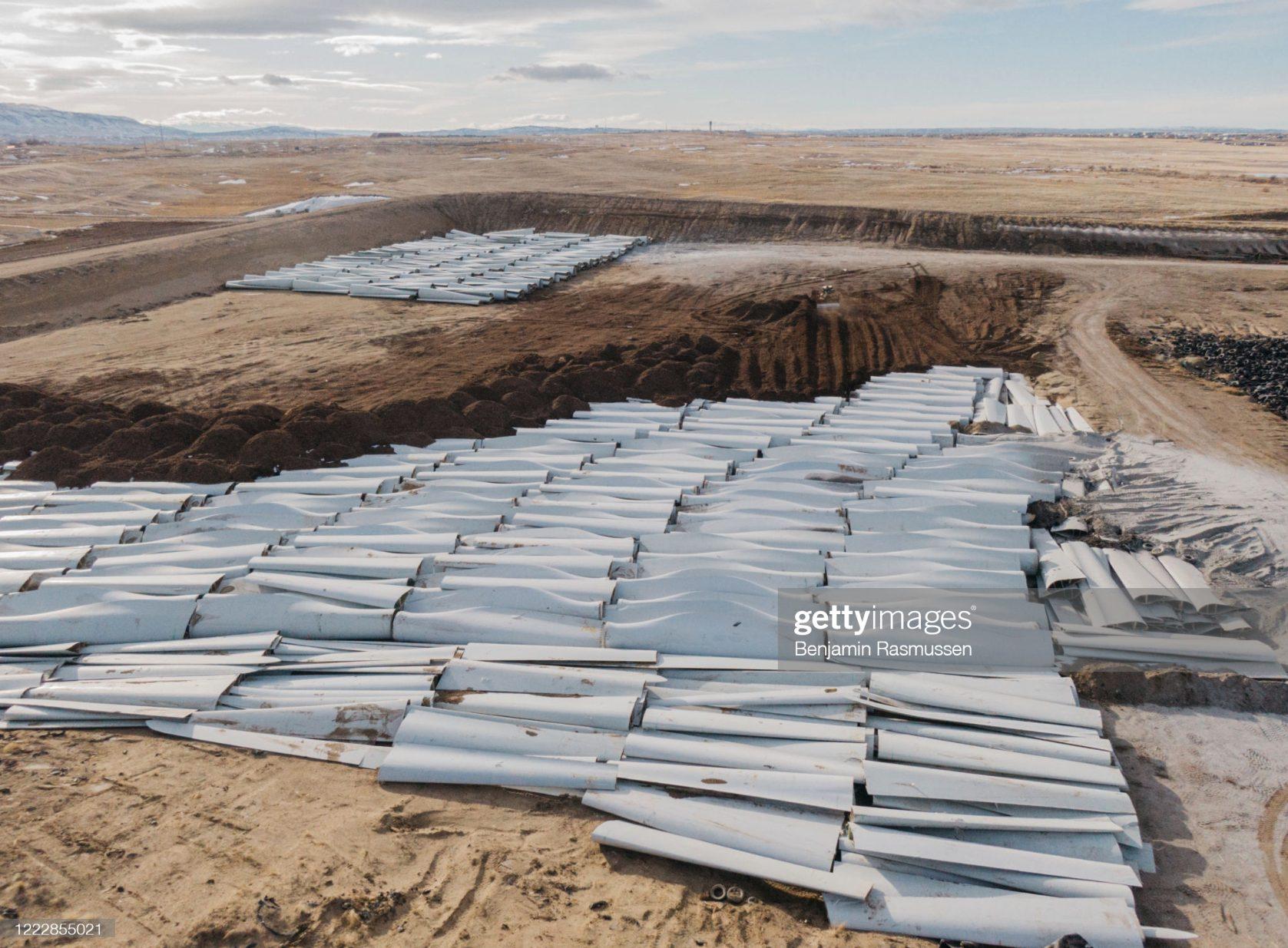 Sondermüll Windkraftanlagen, die im Boden begraben werden